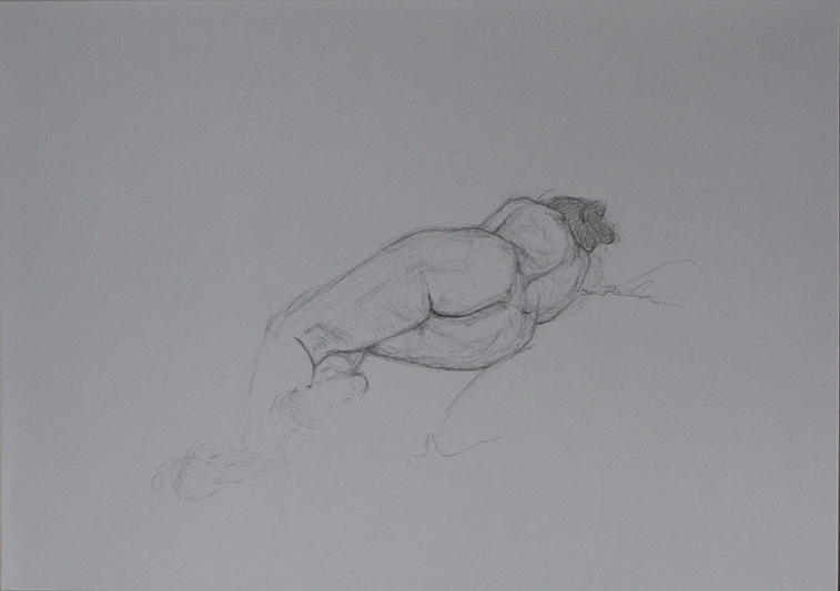 Life Drawing, straight and curled (Pencil on Paper, 210mm x 296mm, 2011)