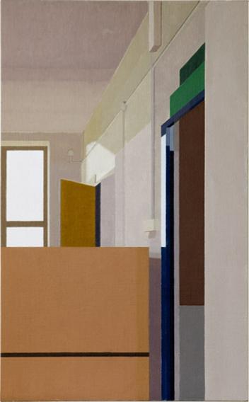 Studio Doors (Oil on Canvas on Board, 494mm x 800mm, 2003)