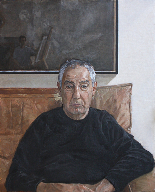 Portrait of my Father, Dutch Palette (Oil on Canvas, 560mm x 450mm, 2013)