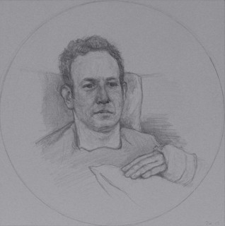 Ben in a Cast (Pencil on Paper, 203mm x 203mm, 2013)