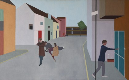 2. Accident in the Street (Oil on Canvas on Board, 678mm x 1100mm, 2006)