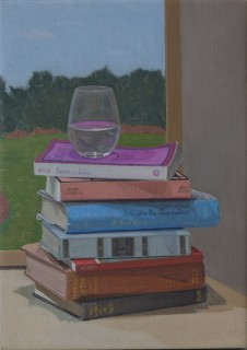Books (Oil on Canvas, 310mm x 220mm, 2016)