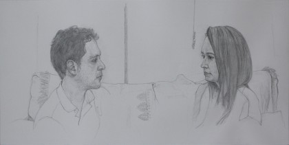 James and Lucie's Marriage Portrait (Pencil on Paper, 312mm x 624mm, 2015-16)