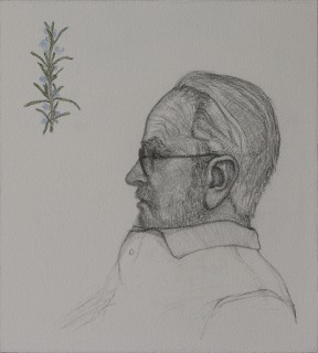 My Grandfather, Posthumously (reworked from a sketch made in 2000) (Pencil on Paper, 255mm x 227mm, 2016)
