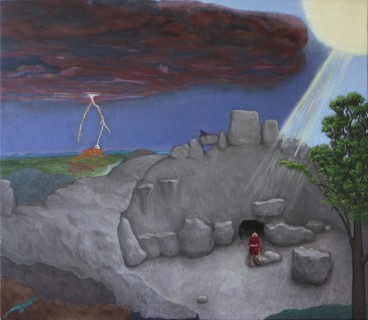 Elijah on the Mountain (Oil on Canvas, 957mm x 1106mm, 2014)