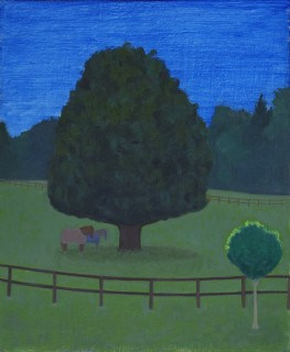 Souvenir of the Horse Field (Oil on Primed Paper, 269mm x 220mm, 2016)