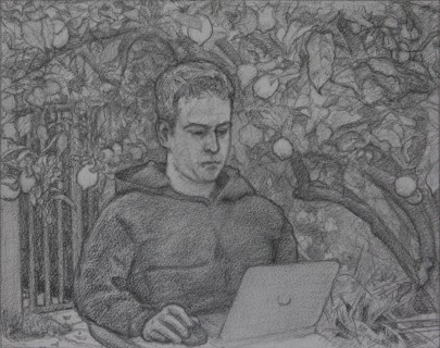 Phil in California (Pencil on Paper, 117mm x 260mm, 2016-17)