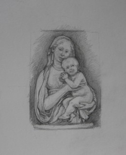 after Luca della Robbia (Pencil on Paper, 420mm x 297mm, 2017) (2)
