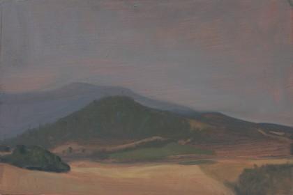 Misty Morning Sketch (Oil on Board, 200mm x 300mm, 2017)