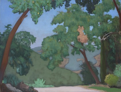 Shade before the Valley (Oil on Board, 300mm x 400mm, 2017)