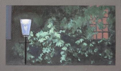 Street Light (Oil on Primed Paper, 114mm x 193mm, 2017)
