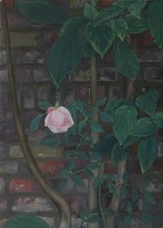 A Single Flower (Oil on Copper, 145mm x 120mm, 2018)