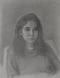 Jessica (Pencil on Paper, 255cmm x 185mm, 2021)
