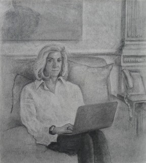 Lynn (Charcoal on Paper, 55cm x 45cm, 2020)